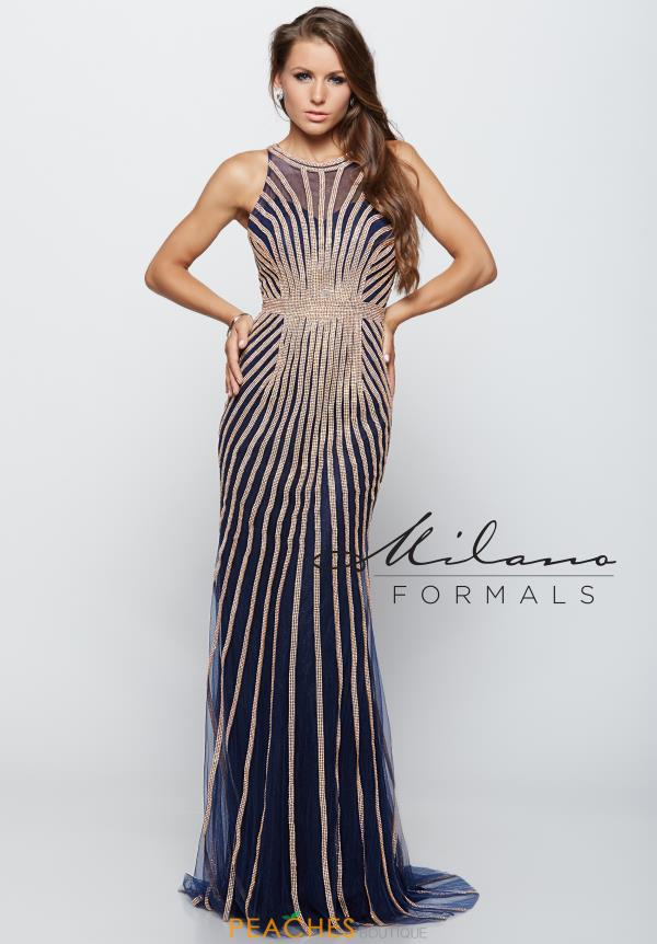 Stunning Long Milano Formals Dress E1971