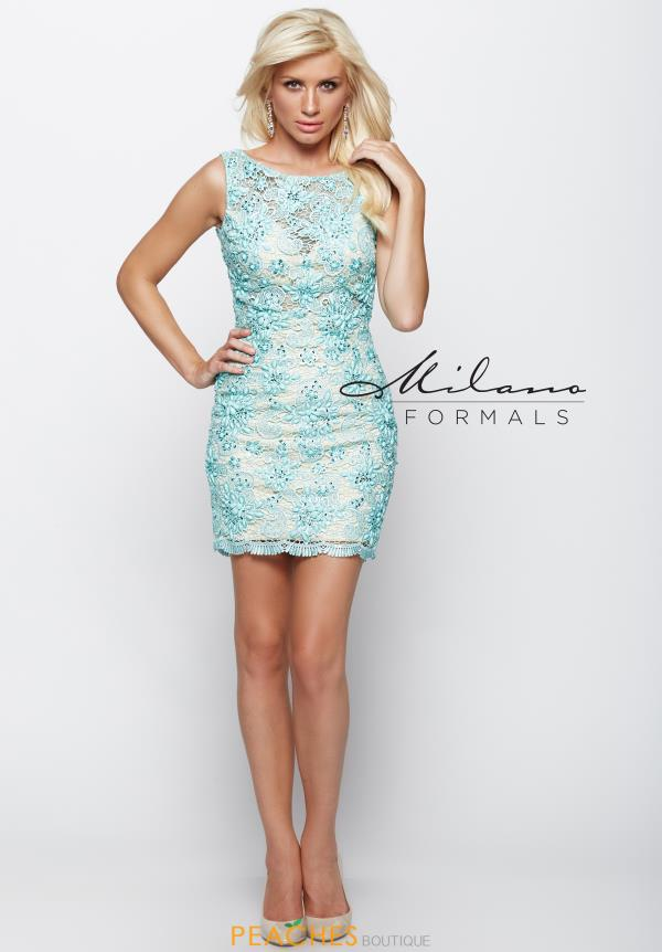 Milano Formals Lace Fitted Dress E1983