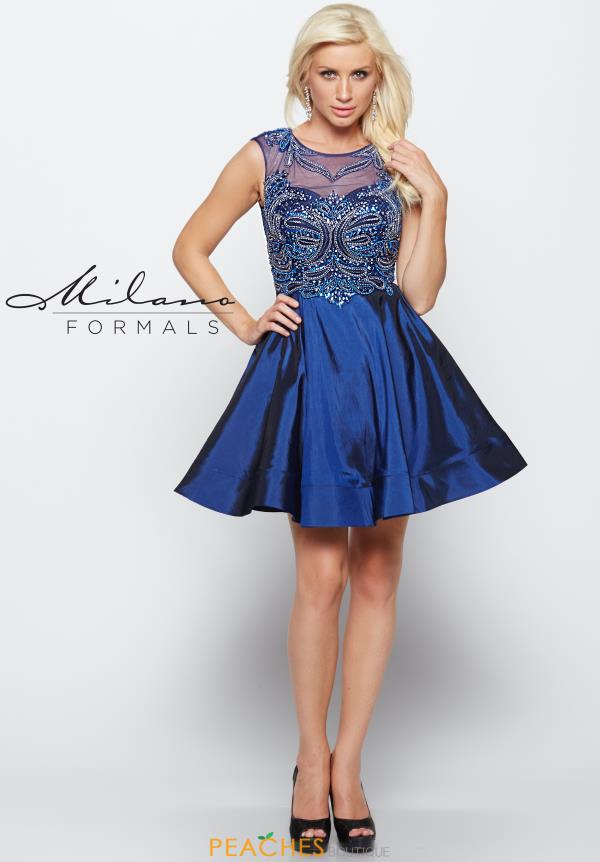 Milano Formals Beaded Short Dress E1999