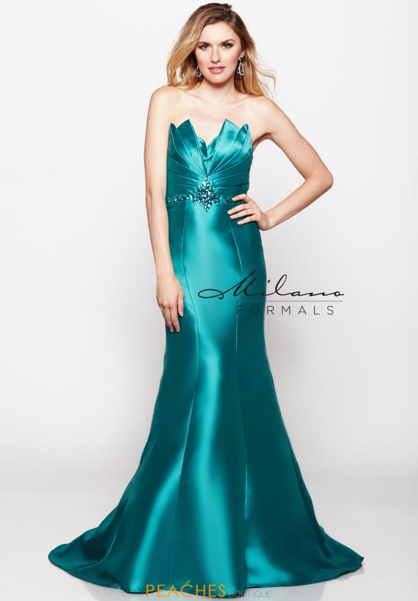 Strapless Fitted Milano Formals Dress E2018