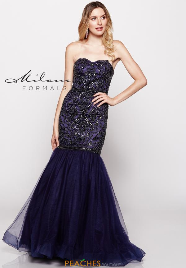 Milano Formals Fitted Mermaid Dress E2022