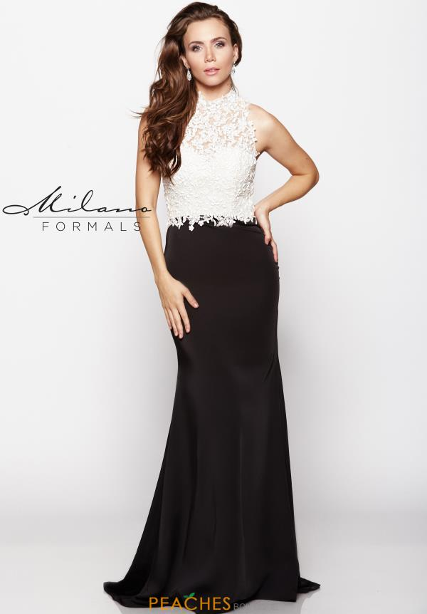 Milano Formals Fitted Lace Dress E2048
