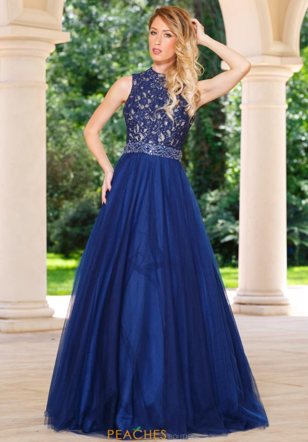 Sean Lace And Tulle Prom Dress 50824