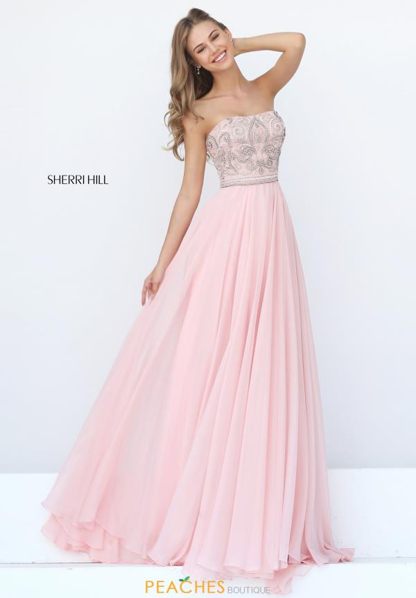 Strapless A Line Sherri Hill Dress 11179