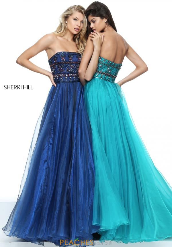 Strapless A Line Sherri Hill Dress 50344