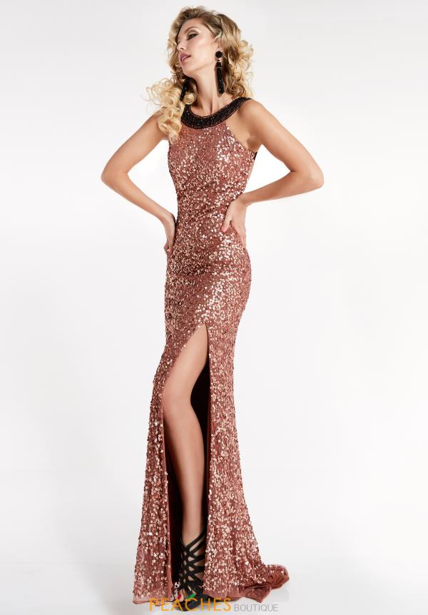 Jasz Couture Beaded Long Dress 1313
