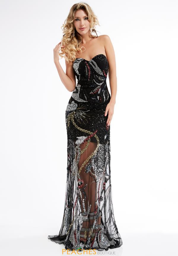Jasz Couture Beaded Long Dress 1322
