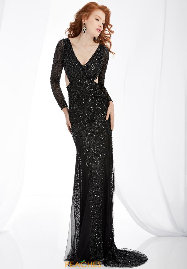 Jasz Couture Sleeved Long Dress 1341