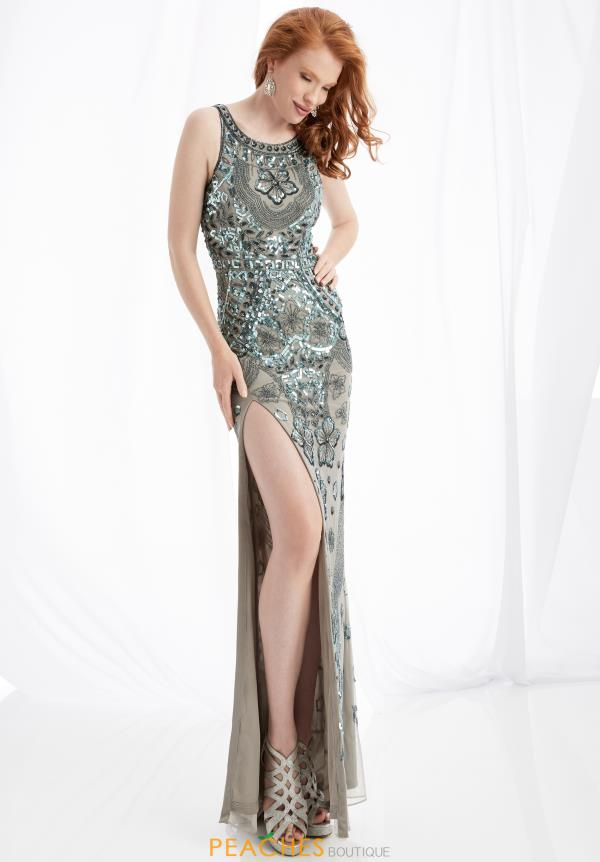 Jasz Couture Beaded Long Dress 1349