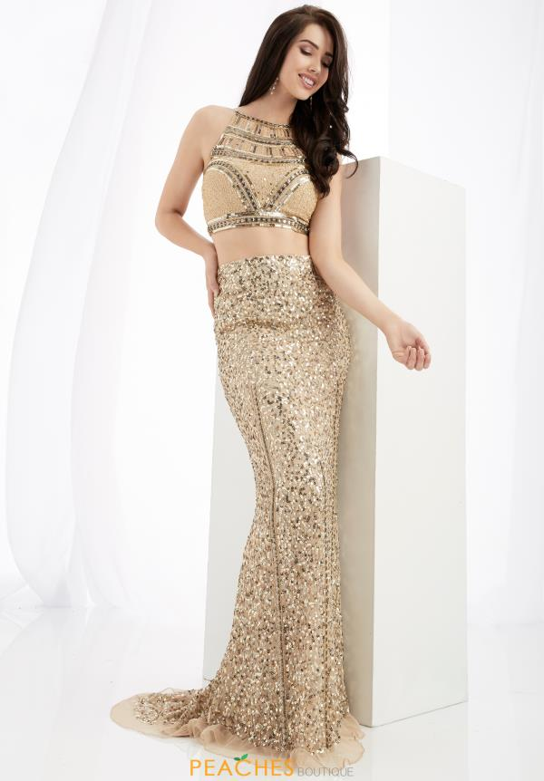 Jasz Couture Two Piece Beaded Dress 1362