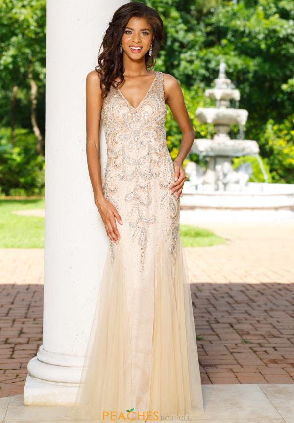Sean Beaded Long Dress 50939
