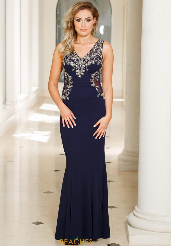 Sean Long Beaded Dress 50941