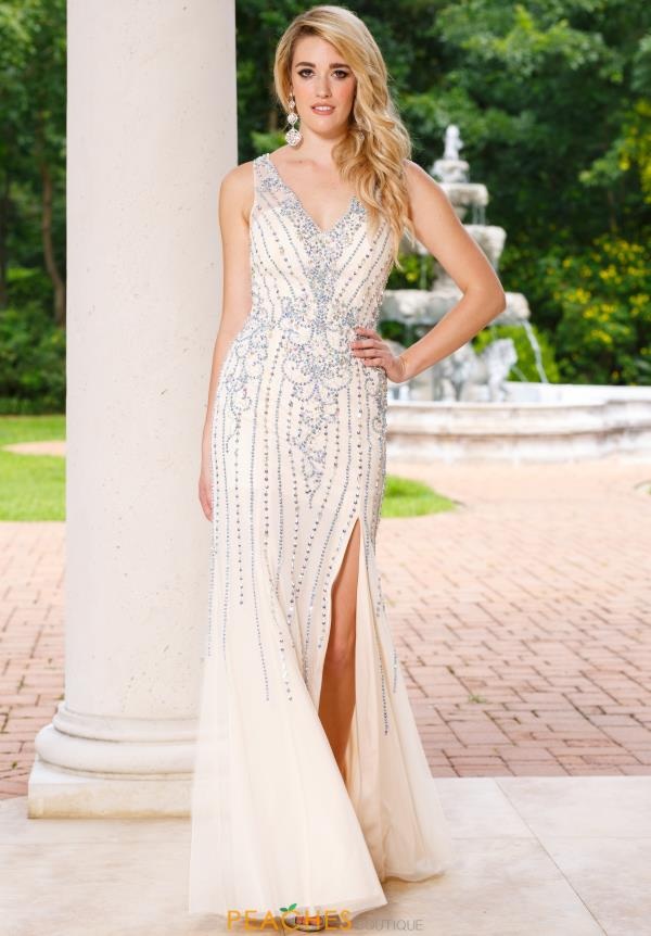 Sean V-Neck Long Dress 50956