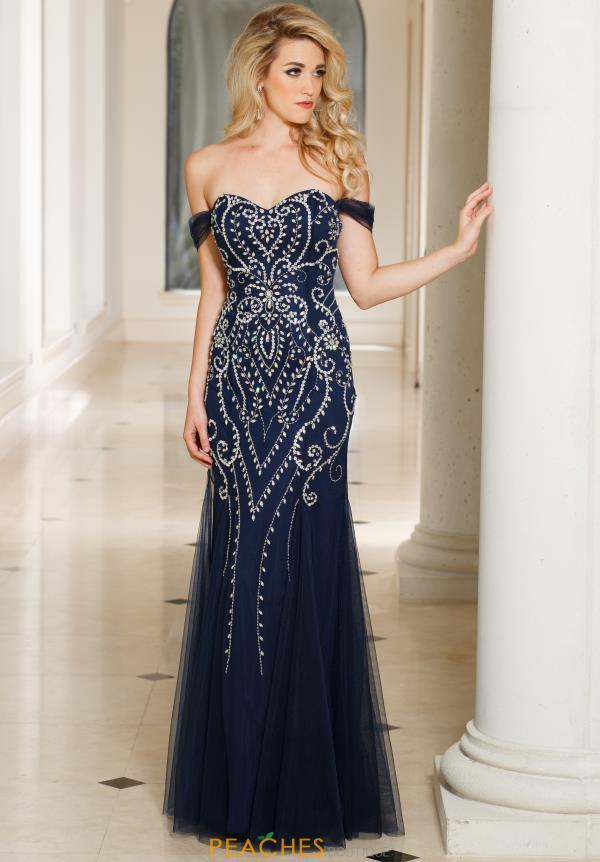 Sean 50963 Beaded Fitted Dress