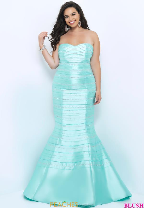 Strapless Fitted Blush Too Dress 11294W