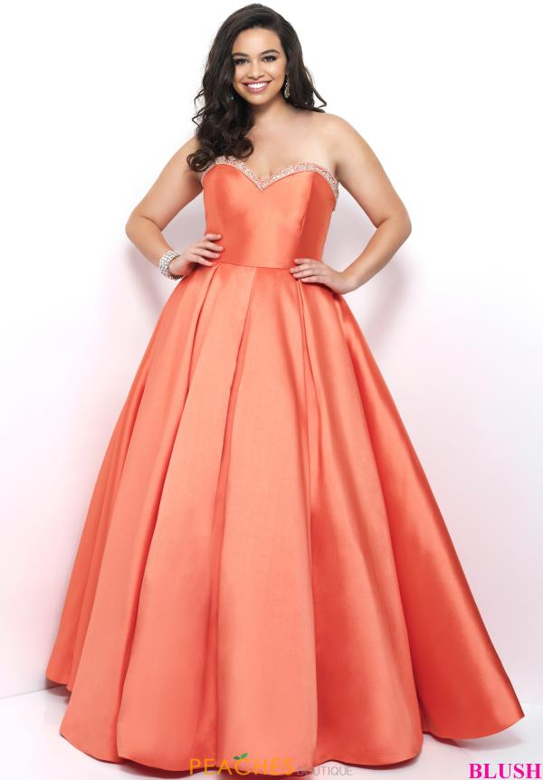 Strapless A Line Blush Too Dress 5626W