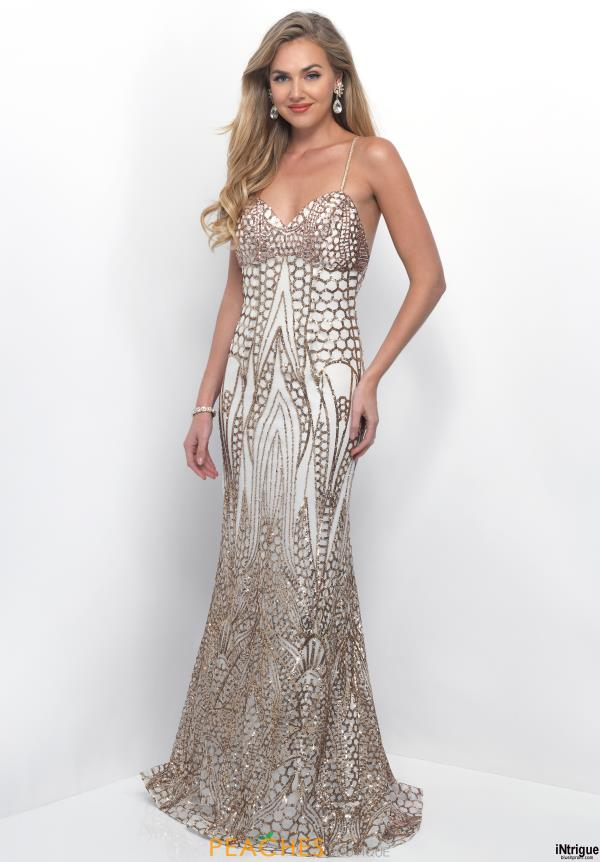 Intrigue by Blush 315 Ivory Sequin Dress