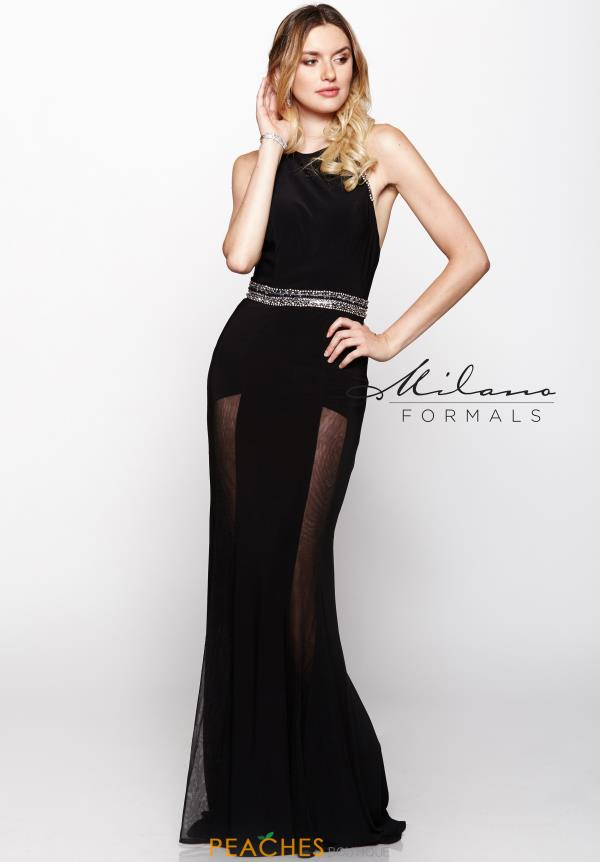 Milano Formals Beaded Jersey Dress E2031
