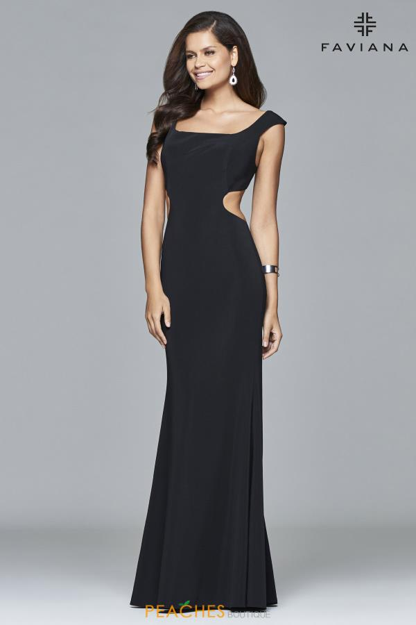Cap Sleeved Fitted Faviana Dress 7988