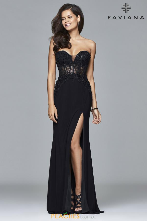 Faviana Strapless Long Dress S7907