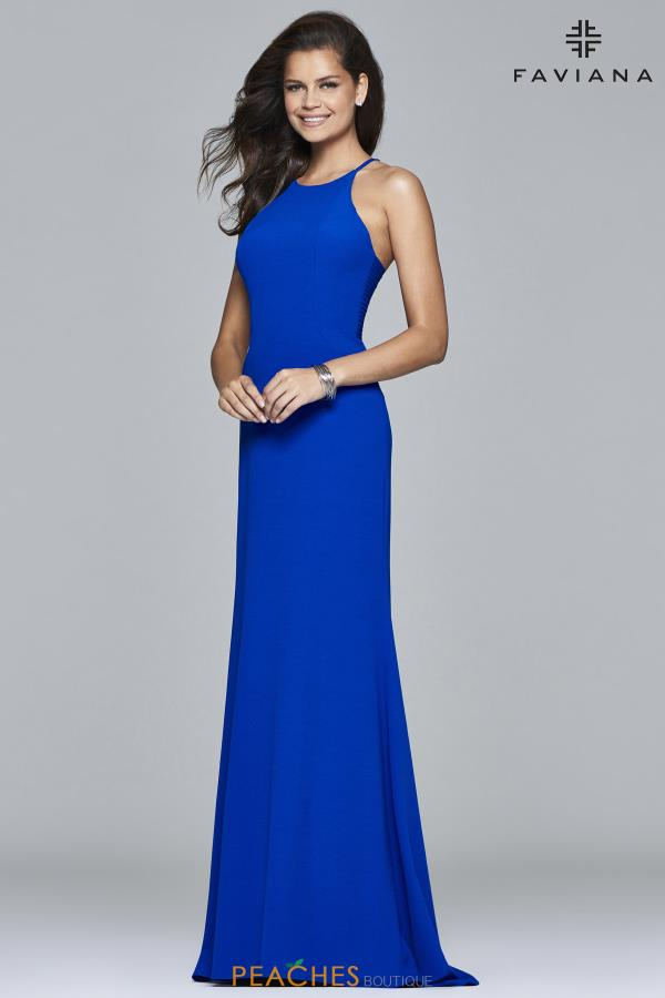 Faviana High Neckline Fitted Dress S7913