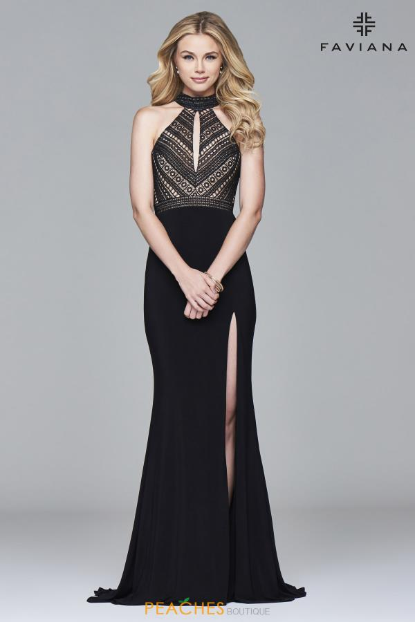 Faviana Fitted Long Dress S7932
