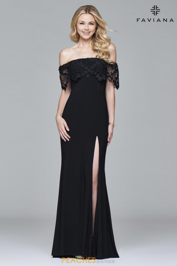 Faviana Strapless Fitted Dress S7937