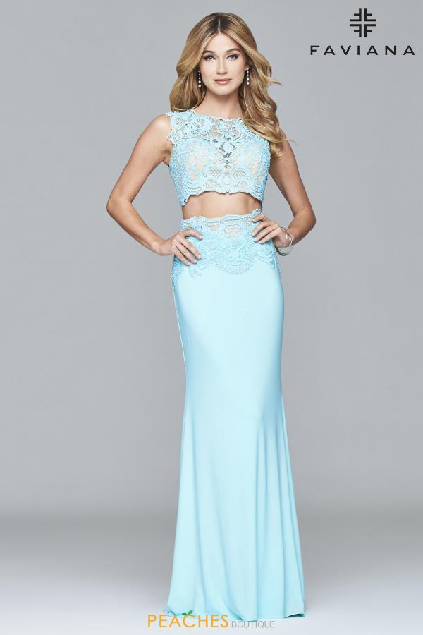 Faviana Fitted Two Piece Dress S7942