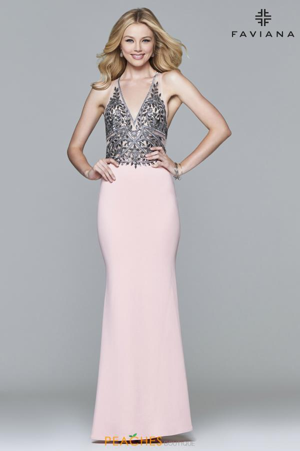 Faviana Fitted Long Dress S7961