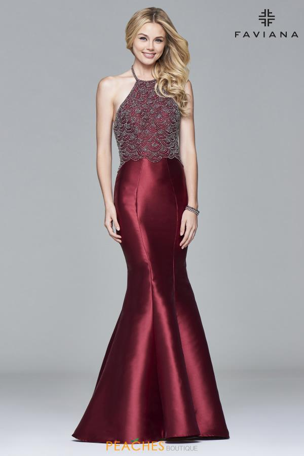 Faviana High Neckline Mermaid Dress S7974