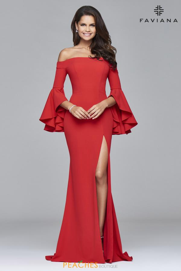 Faviana Strapless Fitted Dress S8002