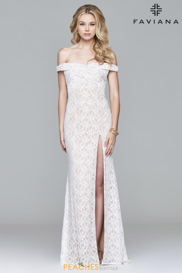 Faviana Strapless Long Dress S8012