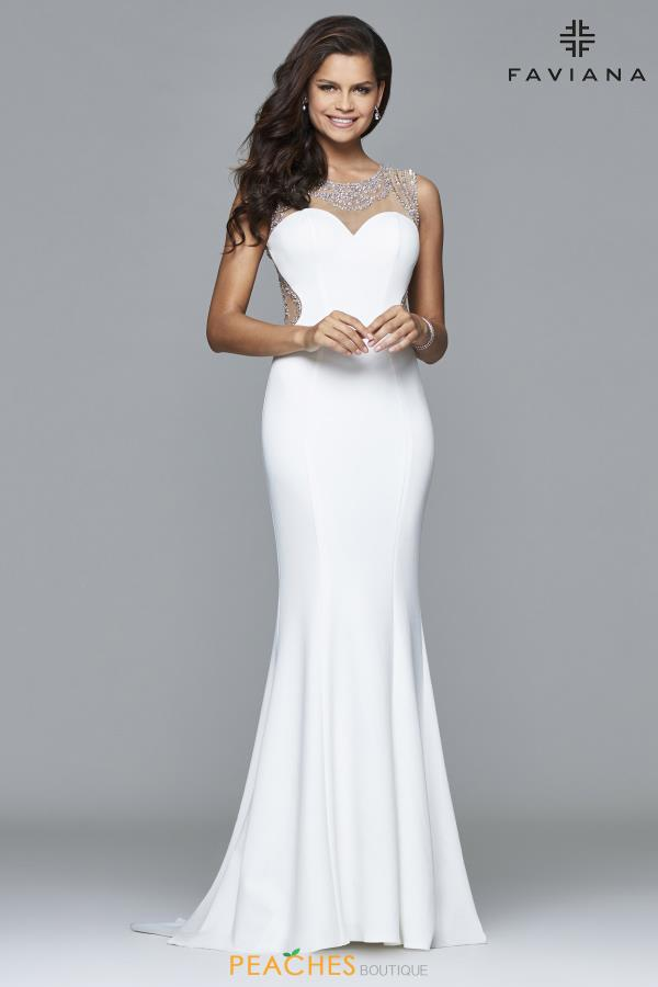Faviana Fitted Long Dress S8014