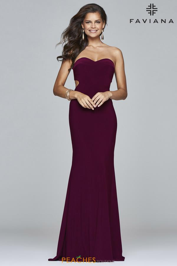 Strapless Fitted Faviana Dress S7922
