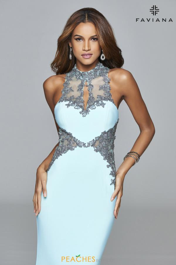 Faviana High Neckline Fitted Dress S7960