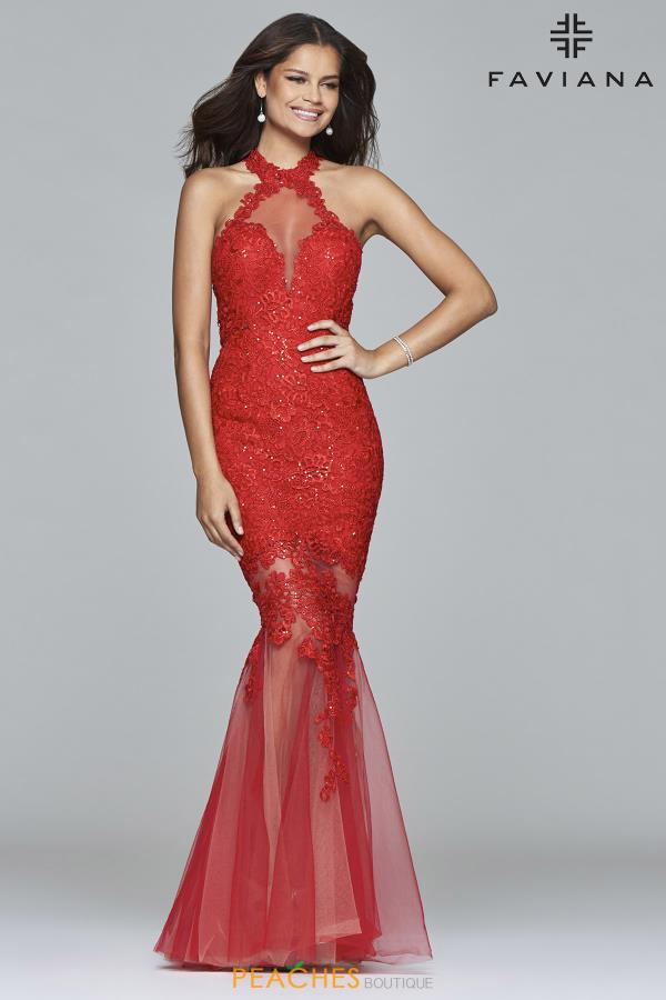 Faviana Long Fitted Dress S7971