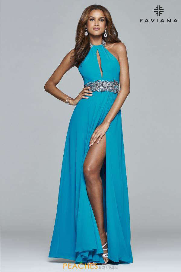 Faviana Beaded Long Dress S8015