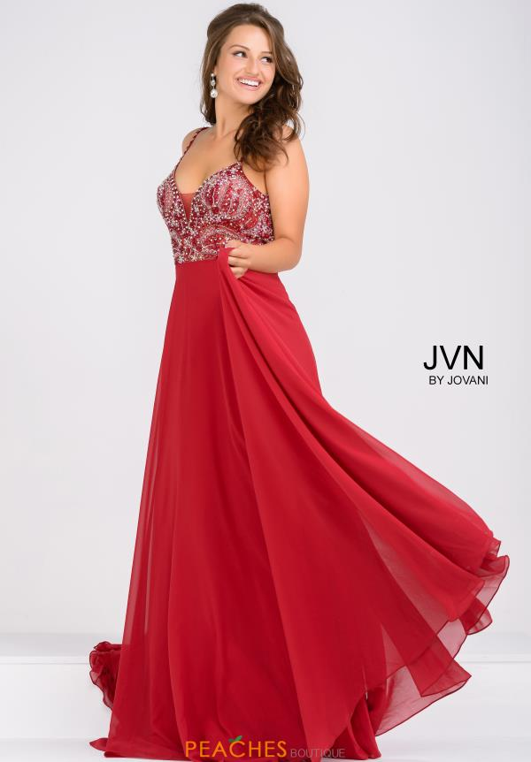 JVN by Jovani Full Figured Long Dress JVN33701