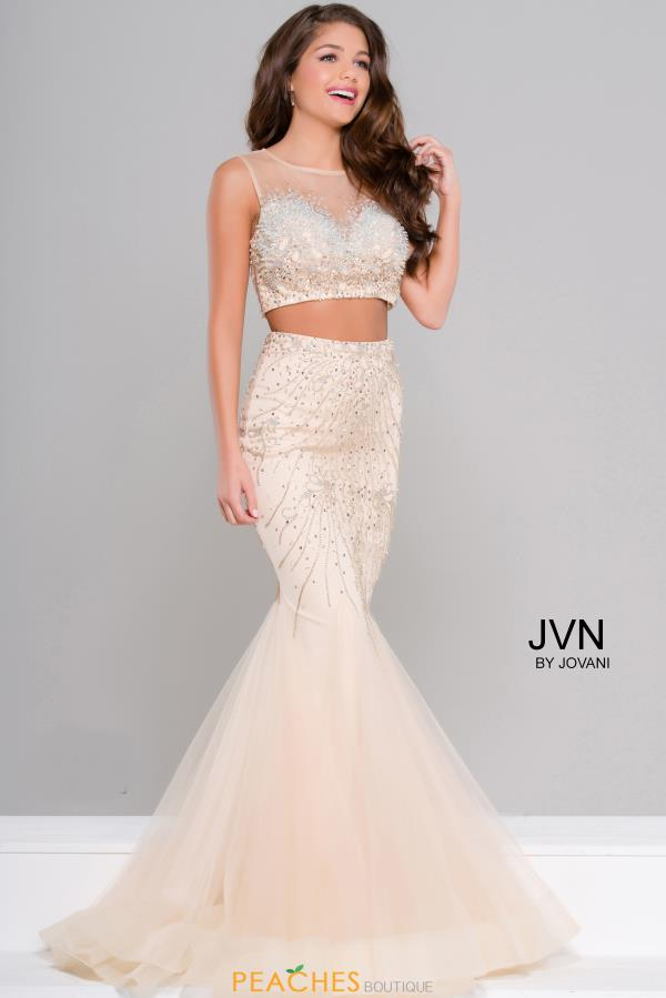 JVN by Jovani Mermaid Tulle Dress JVN36891