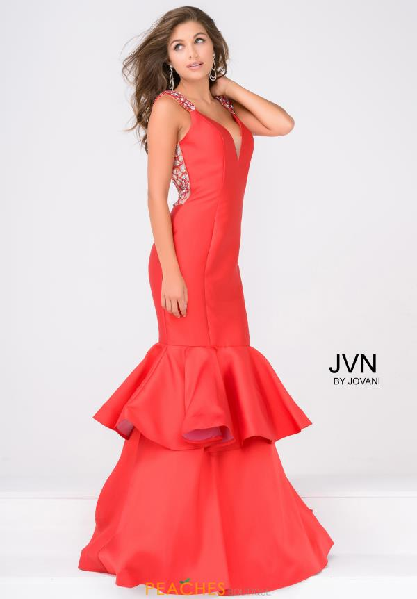 JVN by Jovani Cap Sleeve Long Dress JVN41679