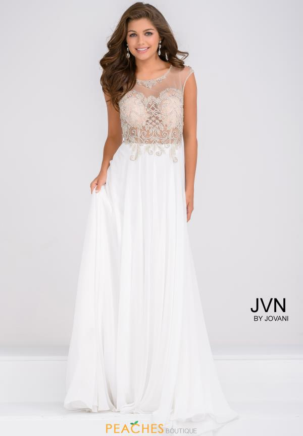 JVN by Jovani A Line Chiffon Dress JVN45675