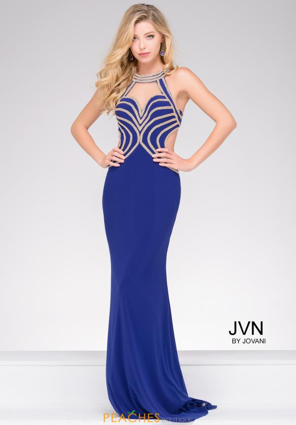 JVN by Jovani Jersey Open Back Dress JVN47009