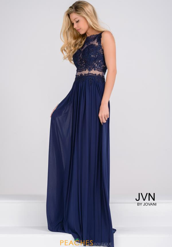 JVN by Jovani Applique A Line Dress JVN47788