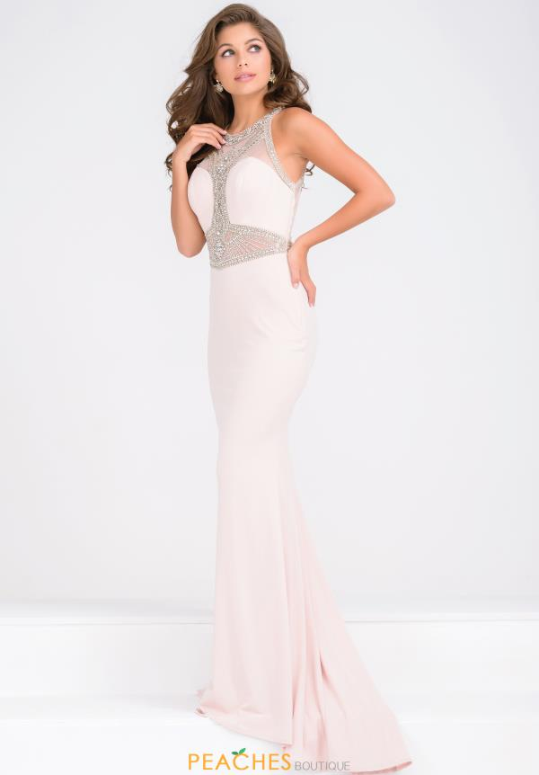 JVN by Jovani High Neckline Beaded Dress JVN47792