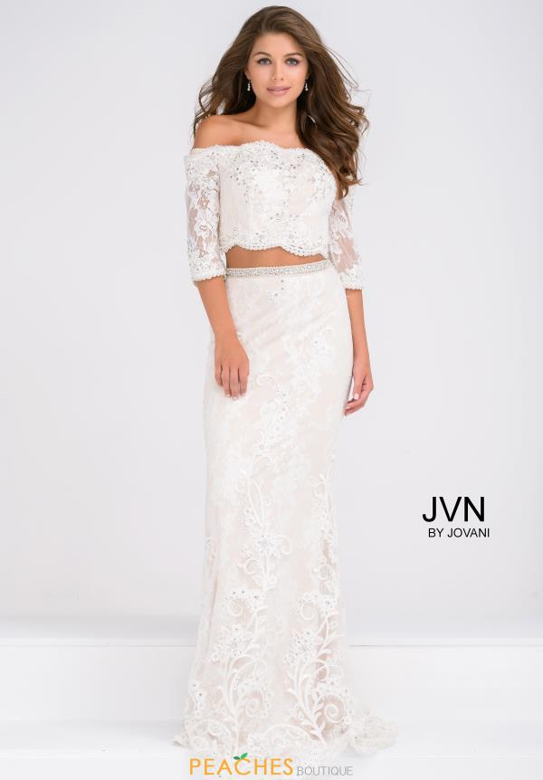 JVN by Jovani Two Piece Strapless Dress JVN47915