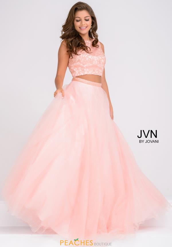 JVN by Jovani Two Piece Tulle Dress JVN47919