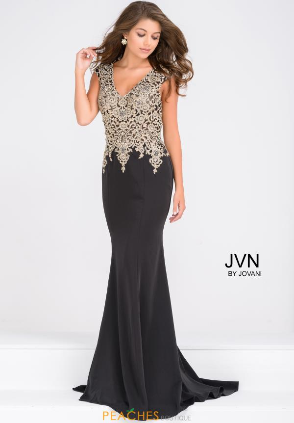 JVN by Jovani Cap Sleeve Long Dress JVN48496