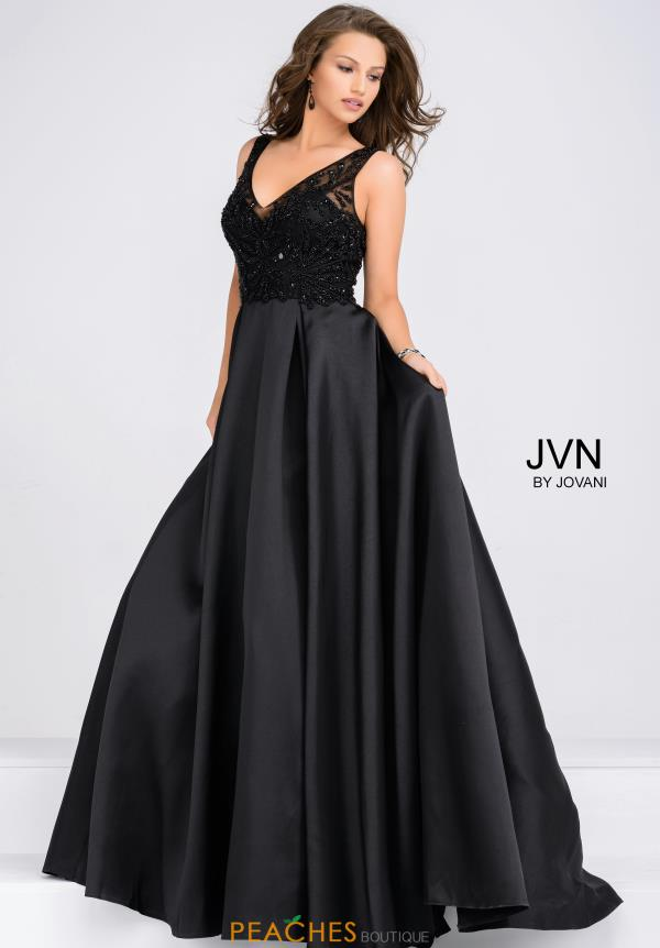 JVN by Jovani V-Neck Long Dress JVN48836