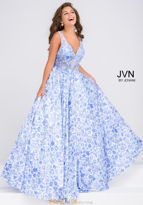 JVN by Jovani V-Neck A Line Dress JVN50050