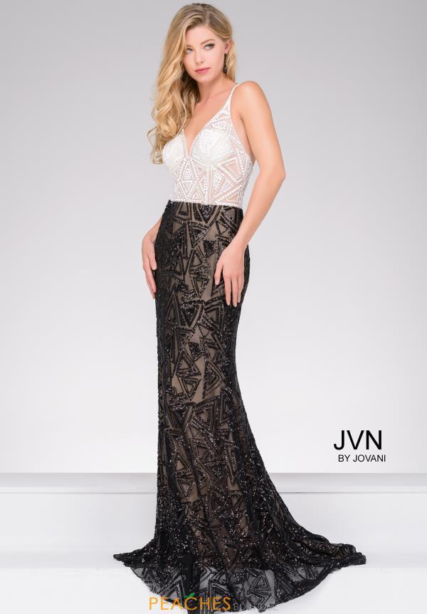 Jovani black and white dress.
